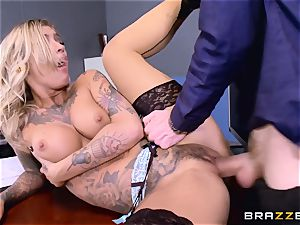 Kleio Valentien pipe wedged by Danny D