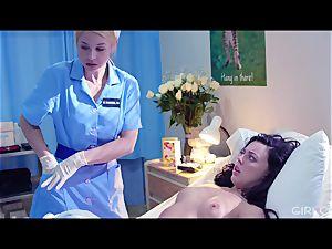 GIRLCORE lezzy Nurses Give teenager Patient Vaginal examination