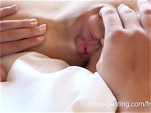 Nubiles audition - little bap honey tries out for porno