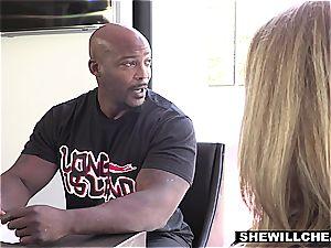 SHEWILLCHEAT - ultra-kinky Real Estate Agent screws big black cock