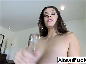 Stacked Alison does a self shot solo