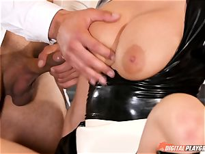 pussy hammering the crazy romp slave maid Britney Amber