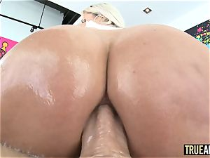 TRUE ass-fuck splendid Nina Elle bum boned and creampied