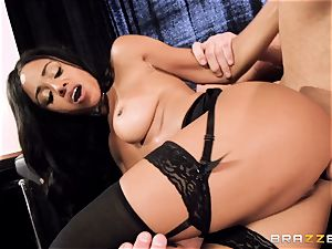 gorgeous honey Anya Ivy porked plums deep on her rendezvous