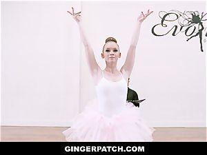 GingerPatch - ginger-haired Ballerina railing Judges huge fuck-stick