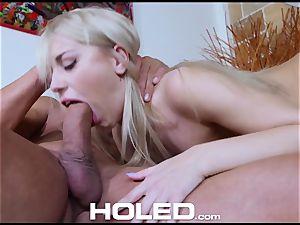 HOLED assfuck pounding ravage with lil' platinum-blonde Kira Thorn