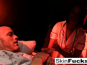 Nurse skin gets rectally pulverized by her patient