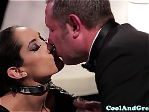 unbelievable Adrianna Luna and Chloe Amour make out after threeway