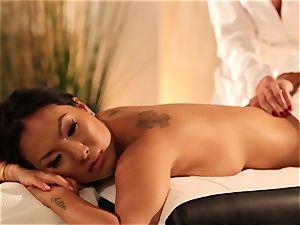 Asa Akira and Jessica Drake lesbian massage