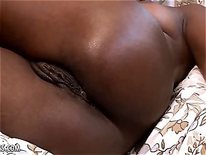 Ana Foxxx toys her super hot beaver with a fuck stick