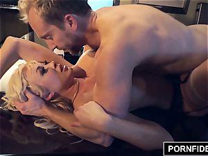 PORNFIDELITY pummel woman Summer Brielle splattering ejaculation