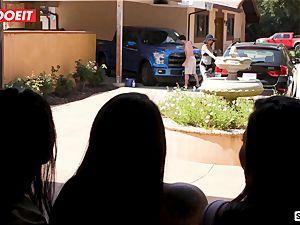 LETSDOEIT - mischievous teens Scam Their gigantic chisel Neighbor