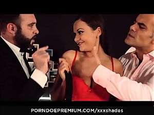 xxx SHADES - Tina Kay dp and deep throat in MMF screw fest