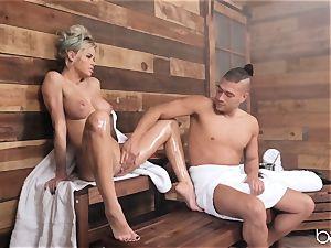 torrid sauna anal for Jessa Rhodes